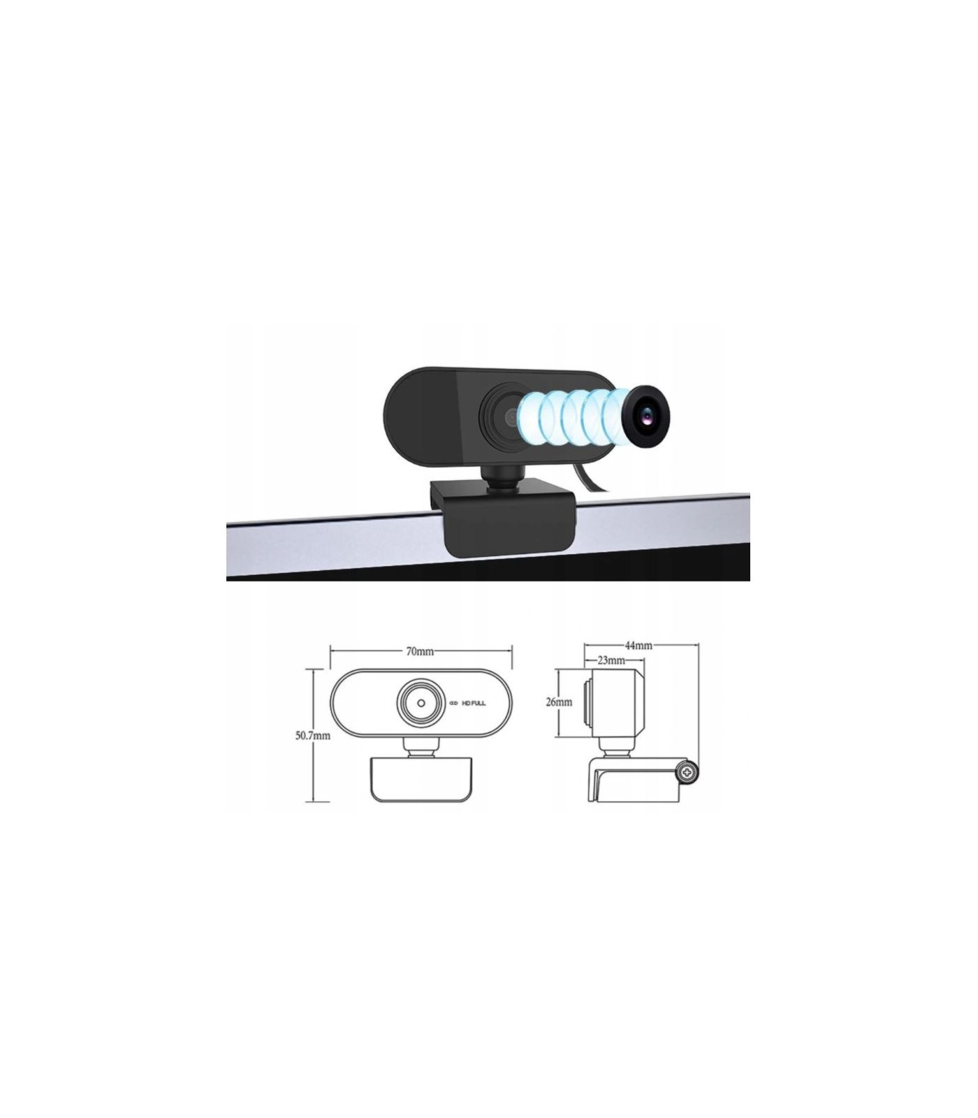 Kamera kamerka internetowa WebCam Full-HD 1080p 2 mpix do laptopa i komputera stacjonarnego.