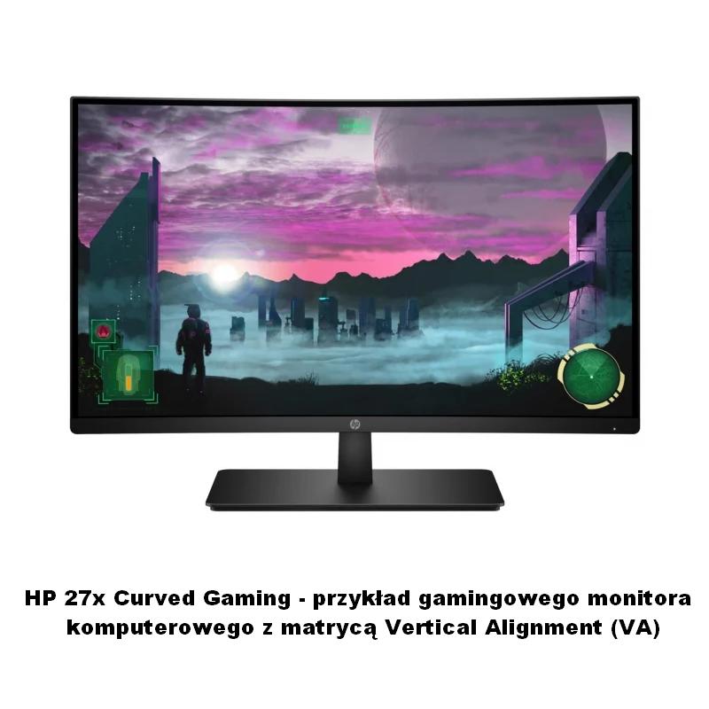 HP 27x Curved Gaming jako przykład monitora z matrycą VA