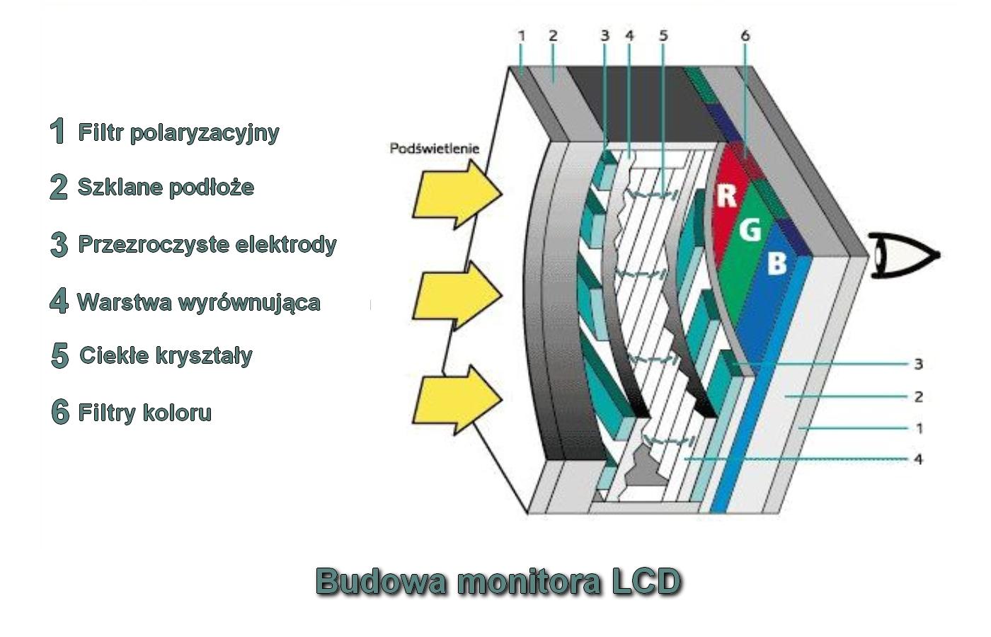 Monitor LCD - budowa